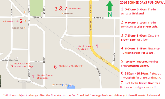 Pub Crawl Route