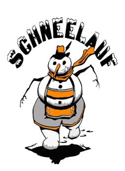 Schnee Lauf Snowman