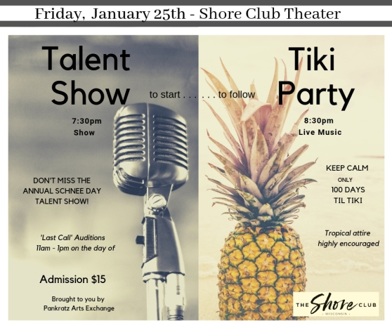 talent show & tiki party jan 25